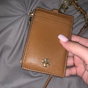 tory burch card holder with strap